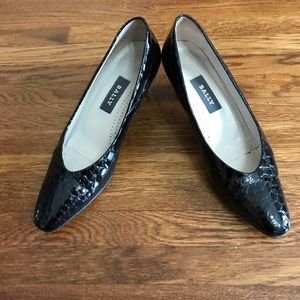Bally Annie II Croc Embossed Patent Leather Pumps